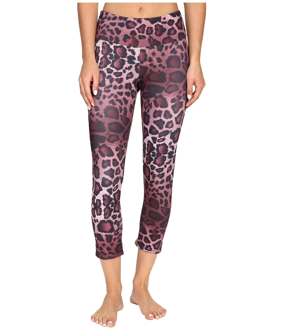 Onzie - Purple Cheetah Capri Leggings (Purple Cheetah) Women's Workout