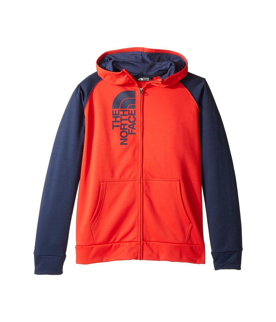 The North Face Kids - Surgent Full Zip Hoodie (Little Kids/Big Kids) (High Risk Red/Cosmic Blue (Prior Season)) Boy's Coat