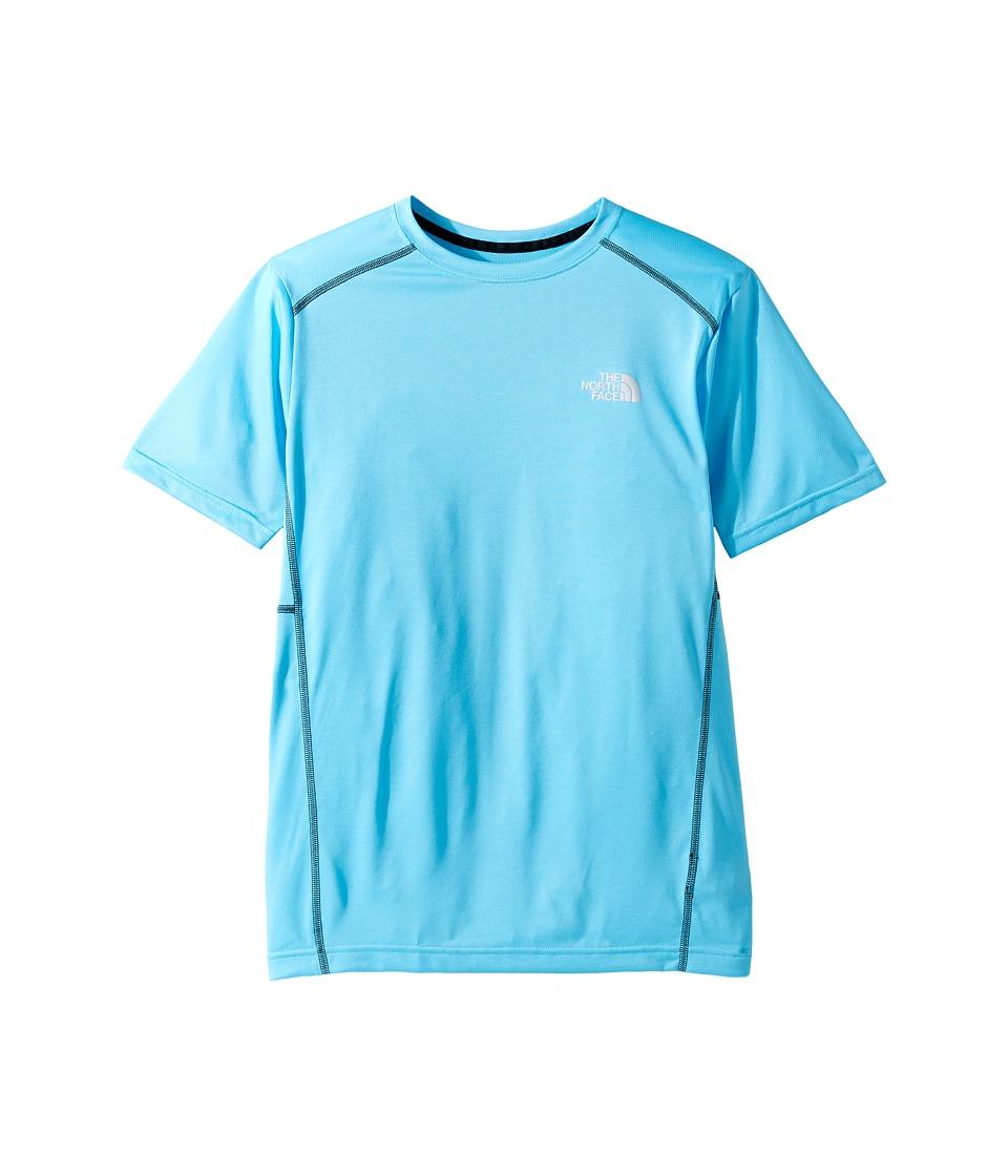 The North Face Kids - Short Sleeve Reactor Tee (Little Kids/Big Kids) (Cascade Blue (Prior Season)) Boy's Short Sleeve Pullover
