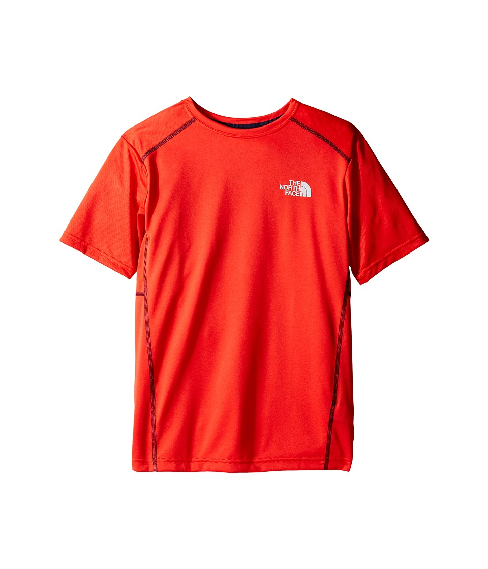 The North Face Kids - Short Sleeve Reactor Tee (Little Kids/Big Kids) (High Risk Red (Prior Season)) Boy's Short Sleeve Pullover