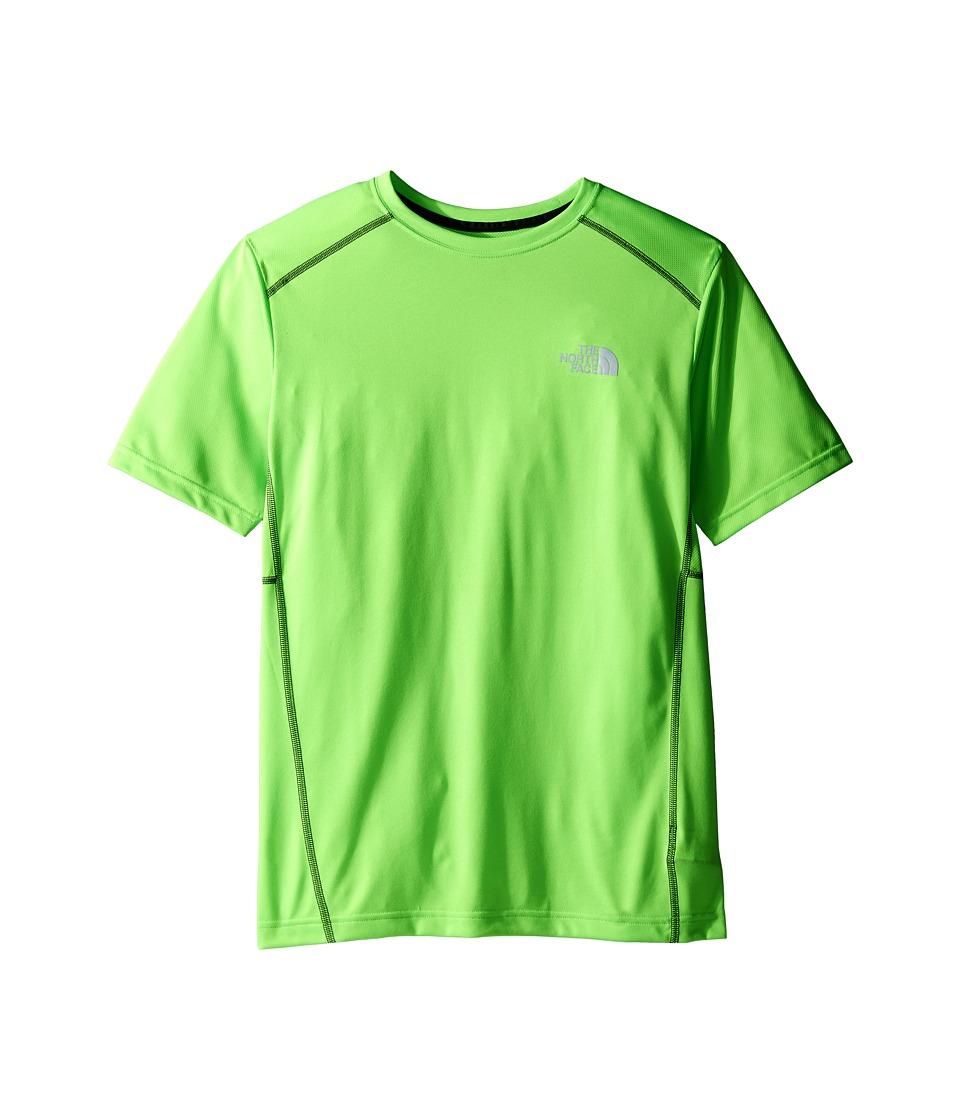 The North Face Kids - Short Sleeve Reactor Tee (Little Kids/Big Kids) (Power Green (Prior Season)) Boy's Short Sleeve Pullover