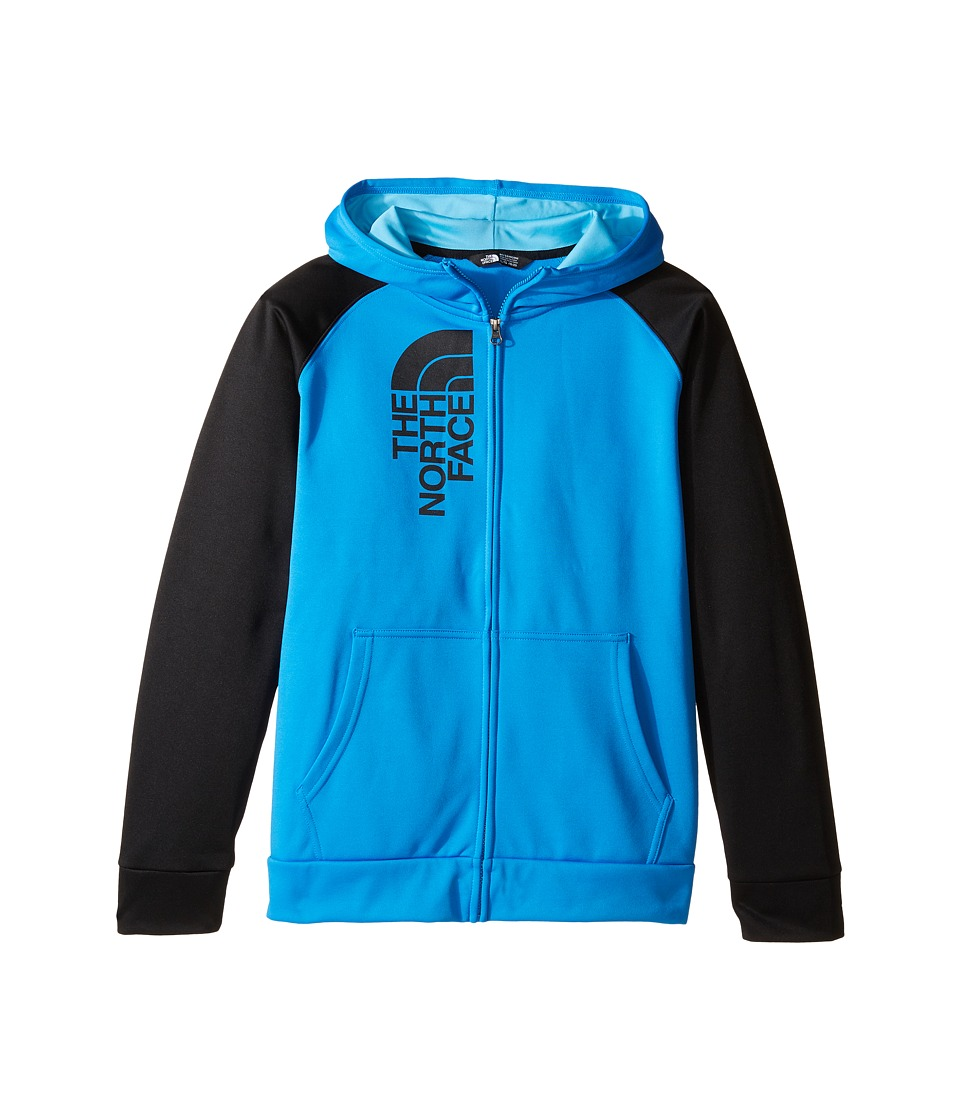 The North Face Kids - Surgent Full Zip Hoodie (Little Kids/Big Kids) (Clear Lake Blue/TNF Black (Prior Season)) Boy's Coat