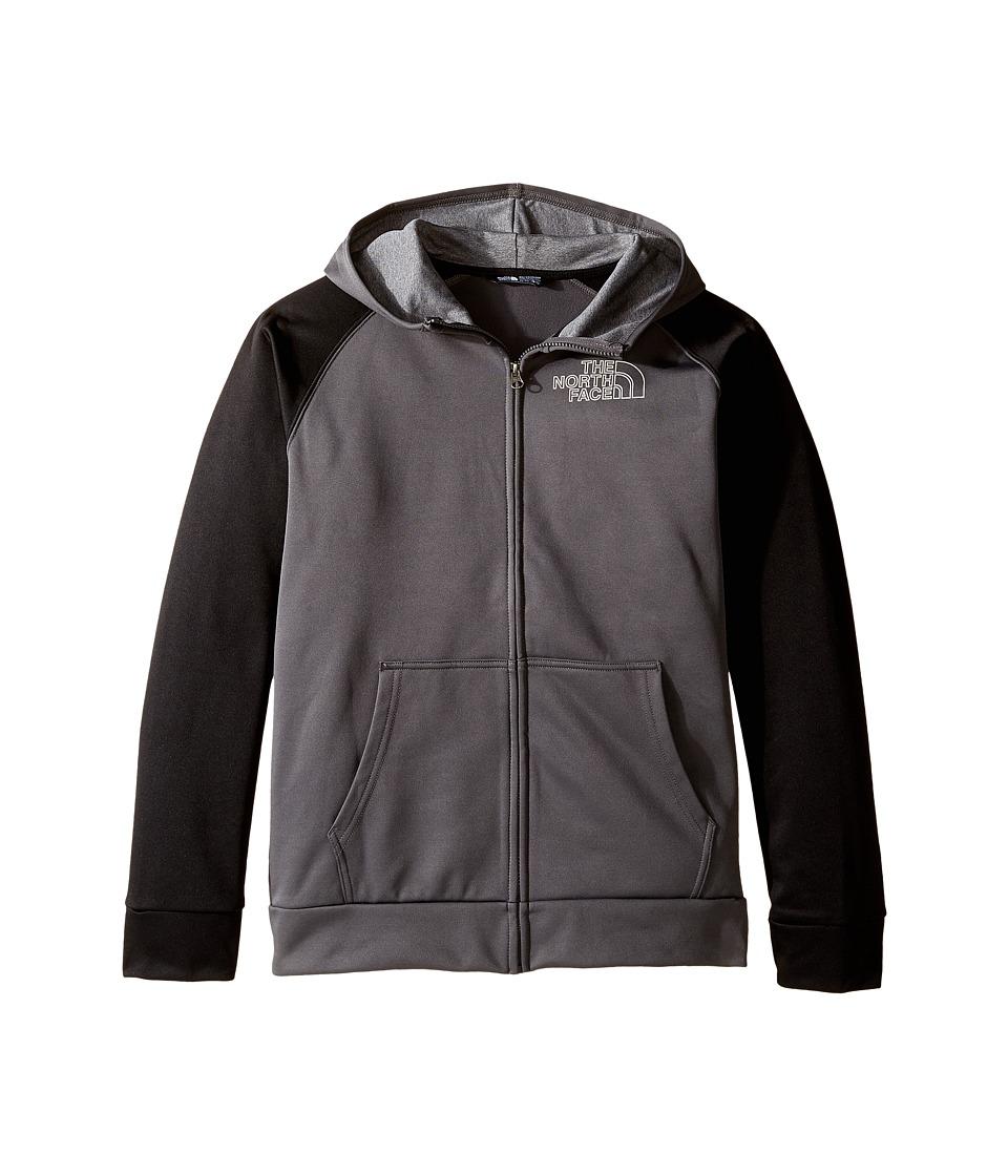The North Face Kids - Surgent Full Zip Hoodie (Little Kids/Big Kids) (Graphite Grey/TNF Black 2 (Prior Season)) Boy's Coat
