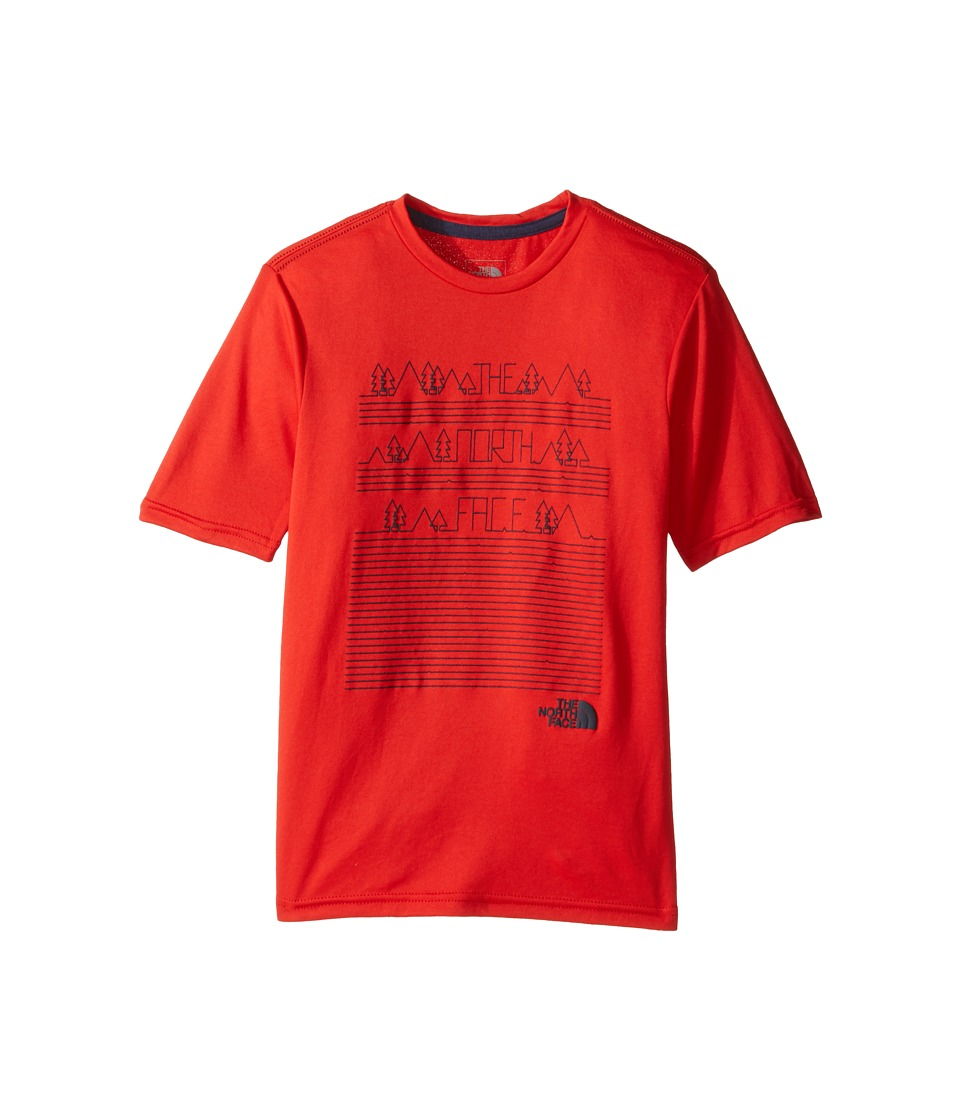 The North Face Kids - Short Sleeve Reaxion Tee (Little Kids/Big Kids) (High Risk Red (Prior Season)) Boy's T Shirt