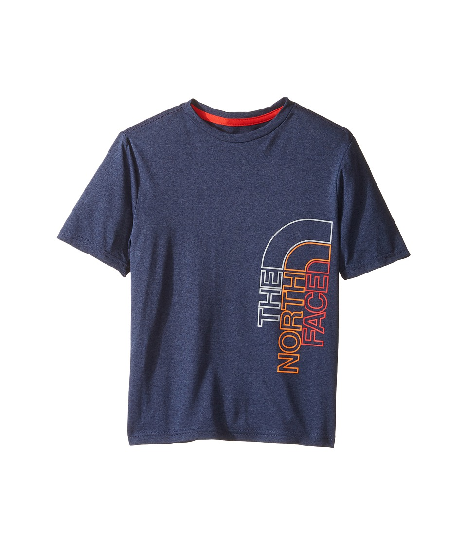 The North Face Kids - Short Sleeve Reaxion Tee (Little Kids/Big Kids) (Cosmic Blue Heather (Prior Season)) Boy's T Shirt