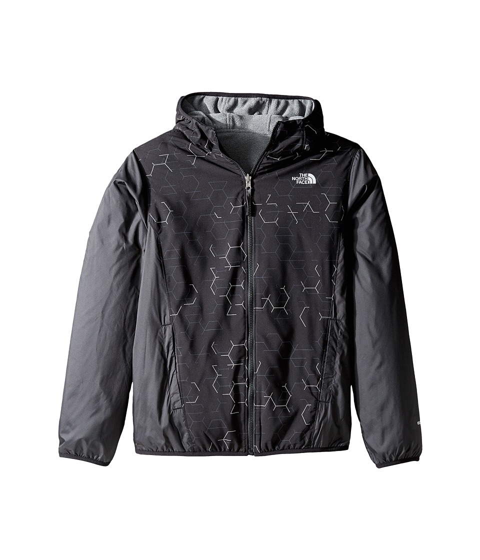 The North Face Kids - Reversible Breezeway Wind Jacket (Little Kids/Big Kids) (TNF Black Broken Reflective Print (Prior Season)) Boy's Coat