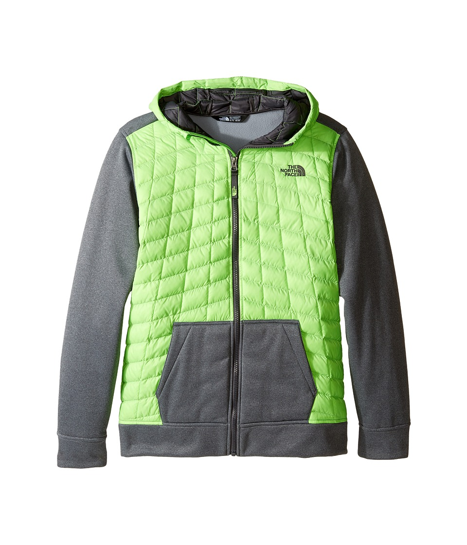 The North Face Kids - Thermoball Canyonlands Hoodie (Little Kids/Big Kids) (Power Green/TNF Medium Grey Heather/Graphite Grey (Prior Season)) Boy's Sweatshirt