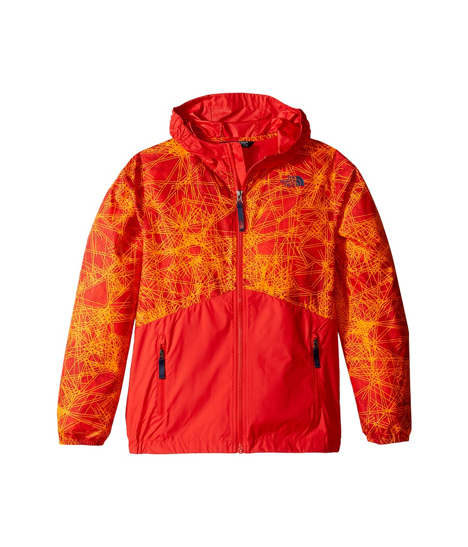 The North Face Kids - Flurry Wind Hoodie (Little Kids/Big Kids) (High Risk Red/High Risk Red (Prior Season)) Boy's Sweatshirt