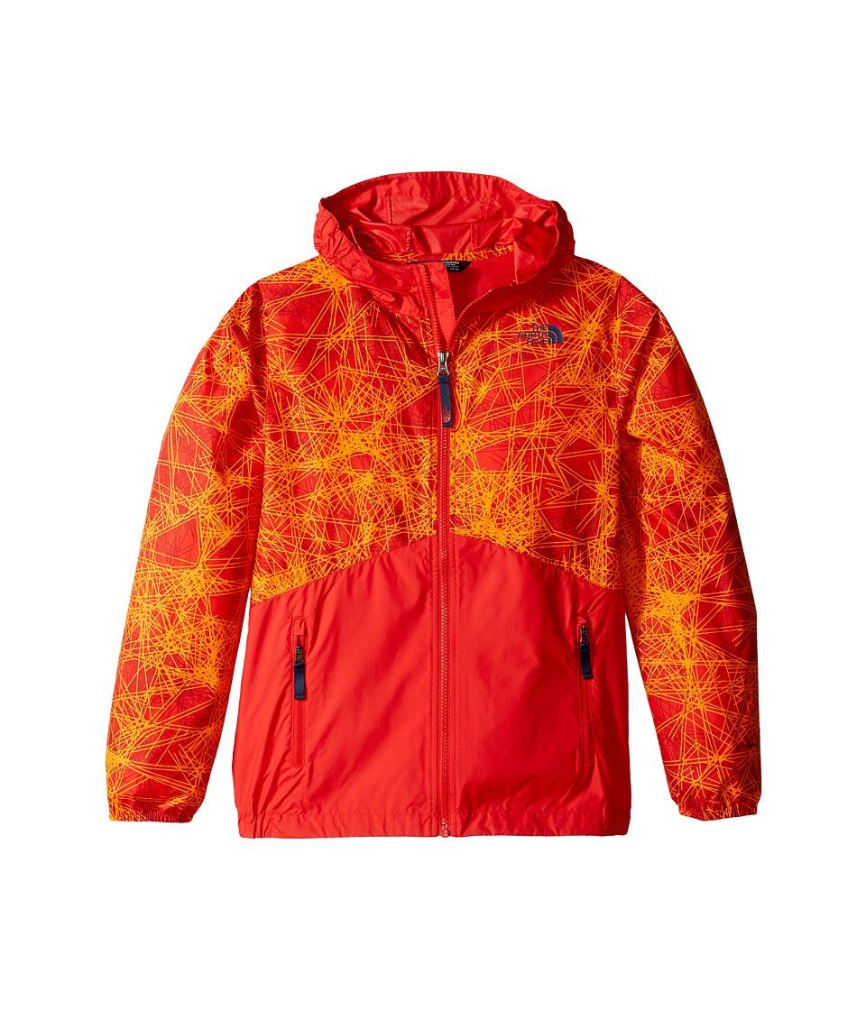 The North Face Kids - Flurry Wind Hoodie (Little Kids/Big Kids) (High Risk Red/High Risk Red (Prior Season)) Boy's Sweatshirt
