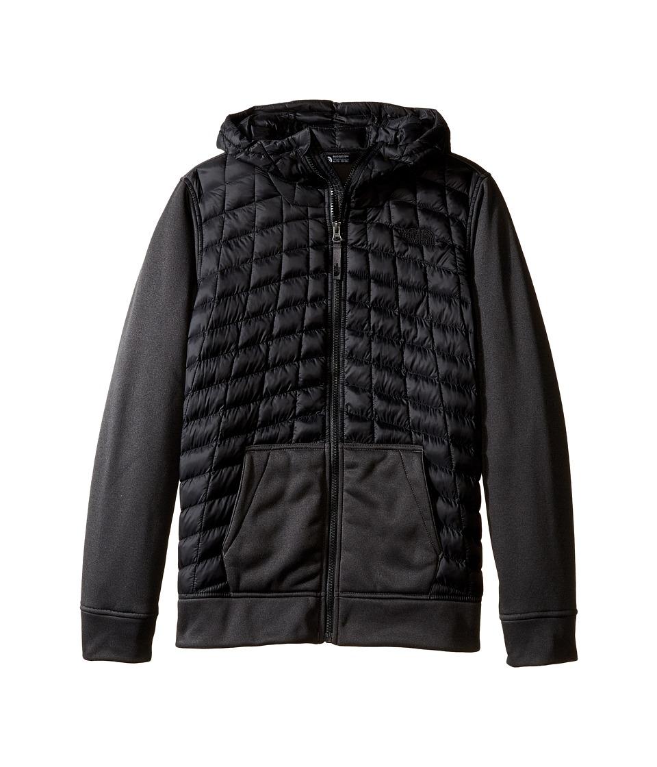 The North Face Kids - Thermoball Canyonlands Hoodie (Little Kids/Big Kids) (TNF Black/TNF Black Heather (Prior Season)) Boy's Sweatshirt