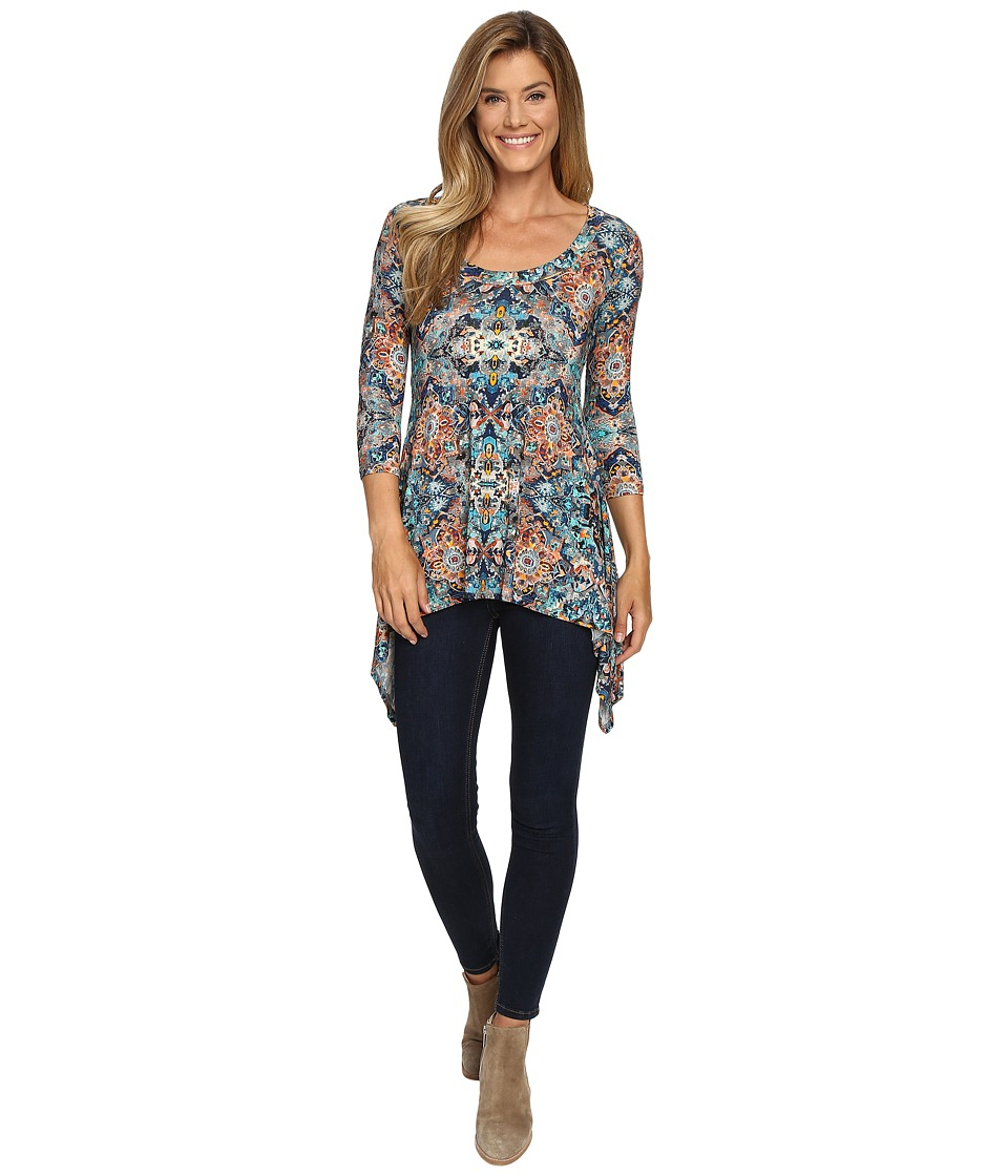 Karen Kane - Tulum Tile Print Top (Print) Women's Clothing