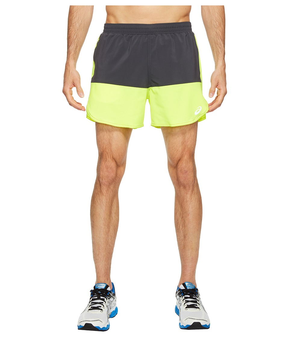 ASICS - Everyday 5 Shorts (Safety Yellow/Dark Grey) Men's Shorts