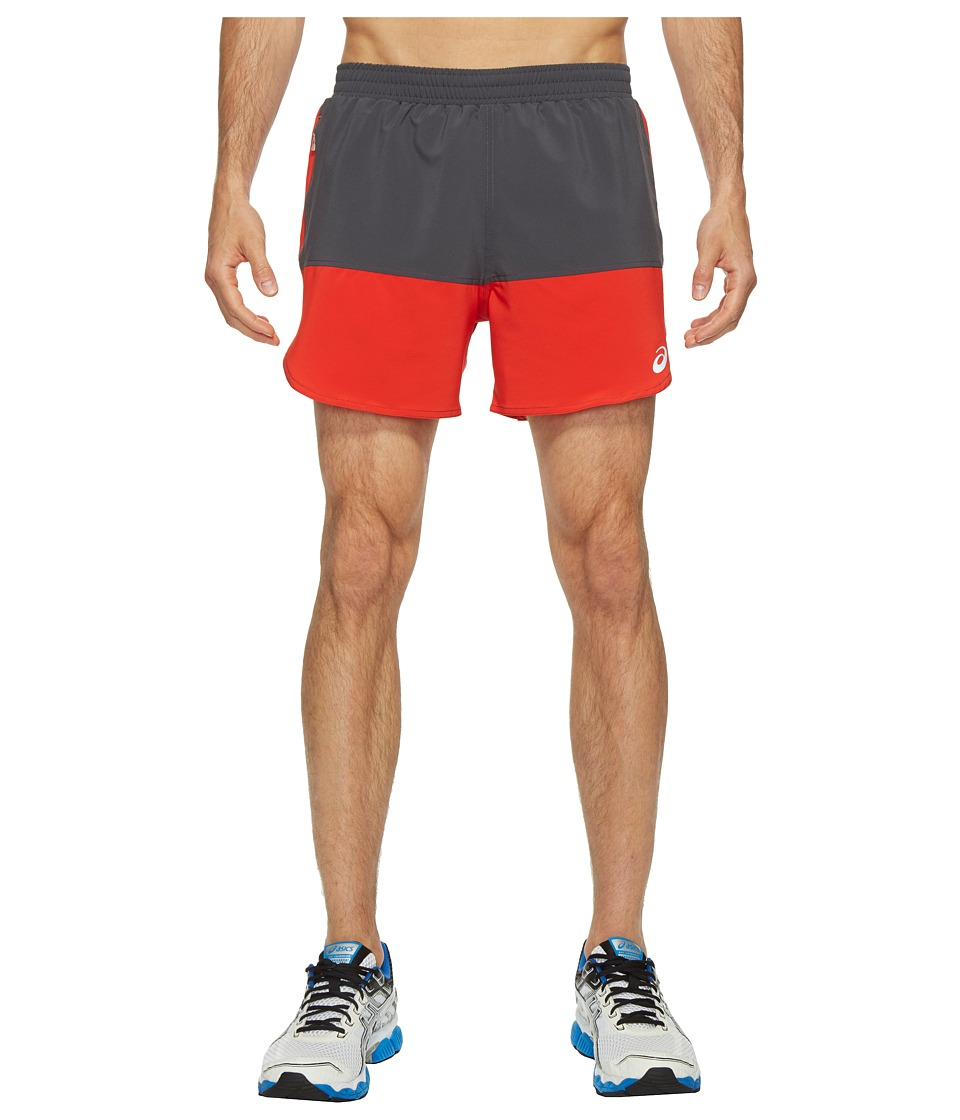 ASICS - Everyday 5 Shorts (Fiery Red/Dark Grey) Men's Shorts