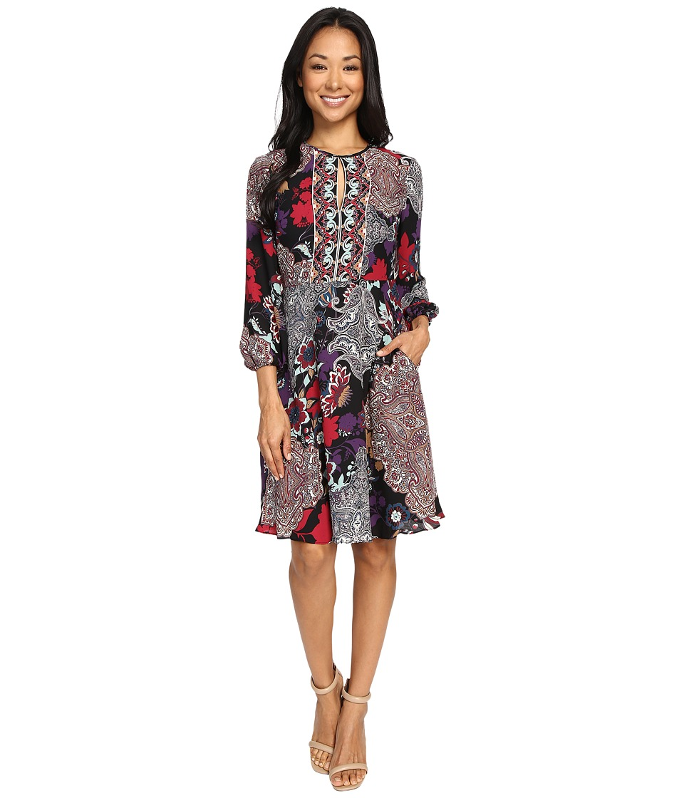 Donna Morgan - Printed Dress (Black/Beet) Women's Dress