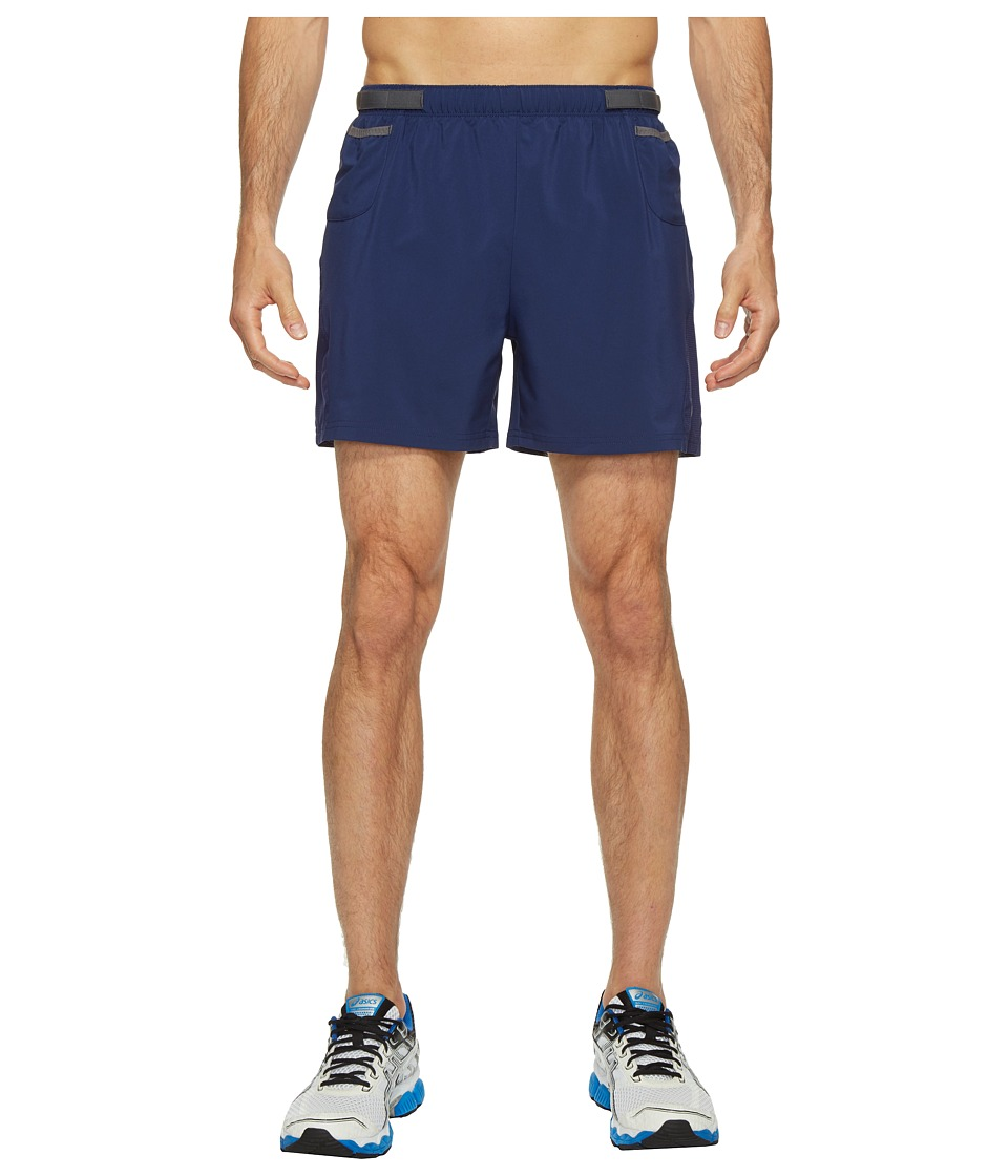 ASICS - Distance 5 Shorts (Indigo Blue) Men's Shorts