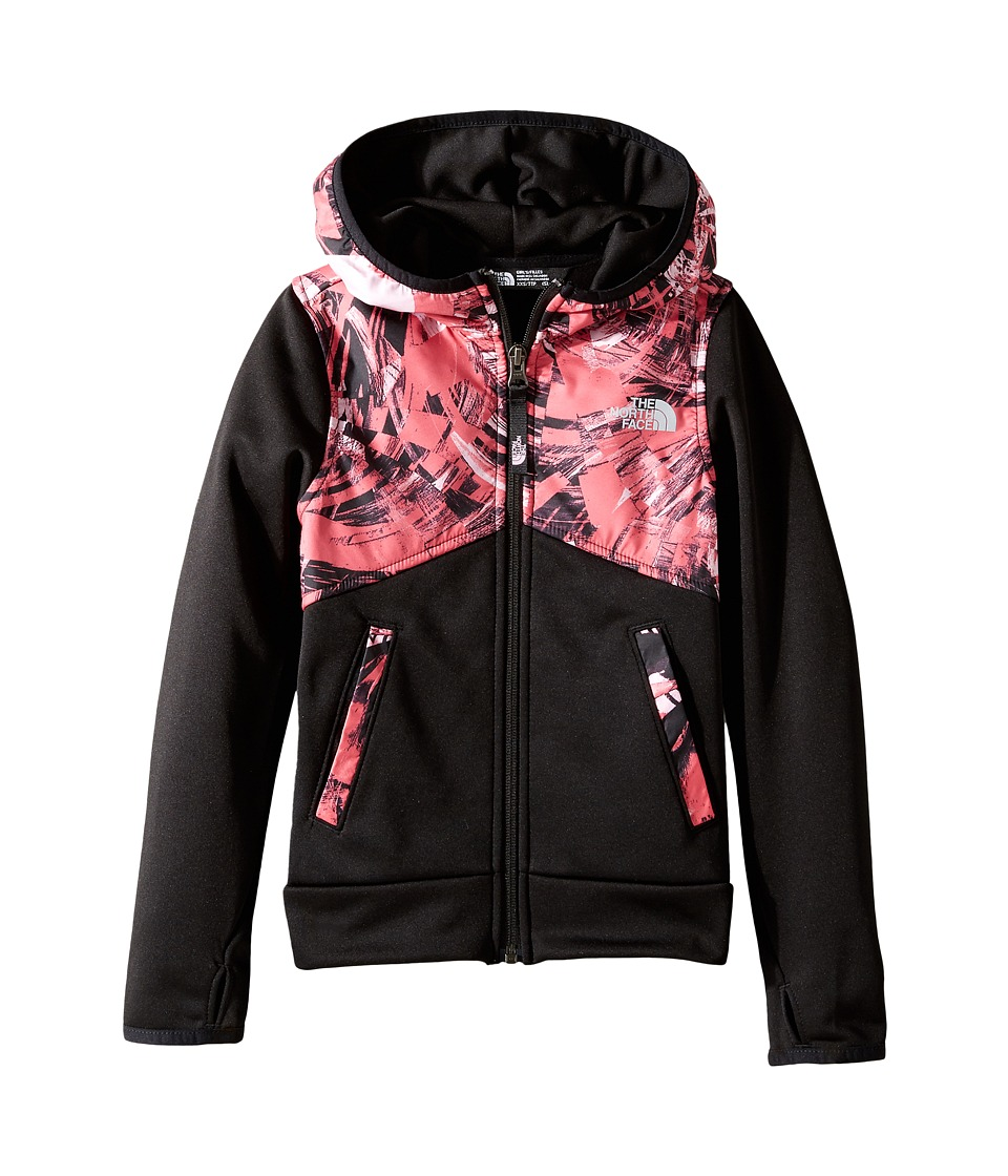 The North Face Kids - Kickin It Hoodie (Little Kids/Big Kids) (Honeysuckle Pink/TNF Black (Prior Season)) Girl's Sweatshirt