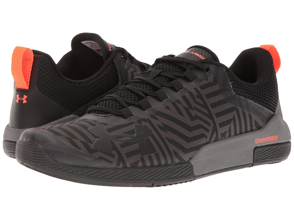Under Armour - UA Charged Legend TR Stripe (Black/Graphite/Black) Men's Cross Training Shoes