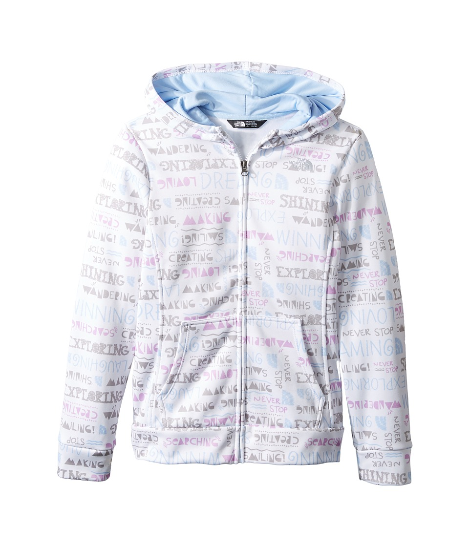 The North Face Kids - Surgent Full Zip Hoodie (Little Kids/Big Kids) (TNF White Multi Scribble Surgent Print (Prior Season)) Girl's Sweatshirt