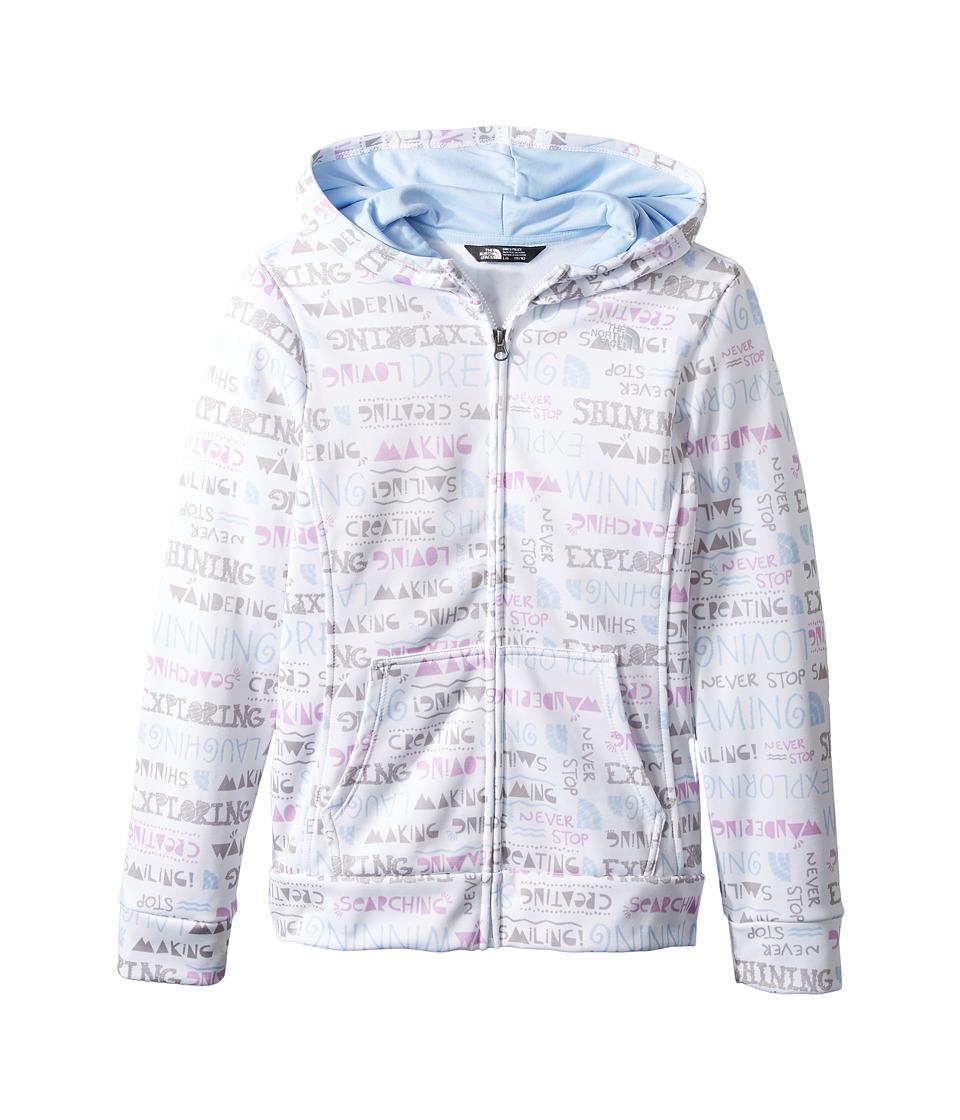 The North Face Kids - Surgent Full Zip Hoodie (Little Kids/Big Kids) (TNF White Multi Scribble Surgent Print (Prior Season)) Girl's Sweatshirt