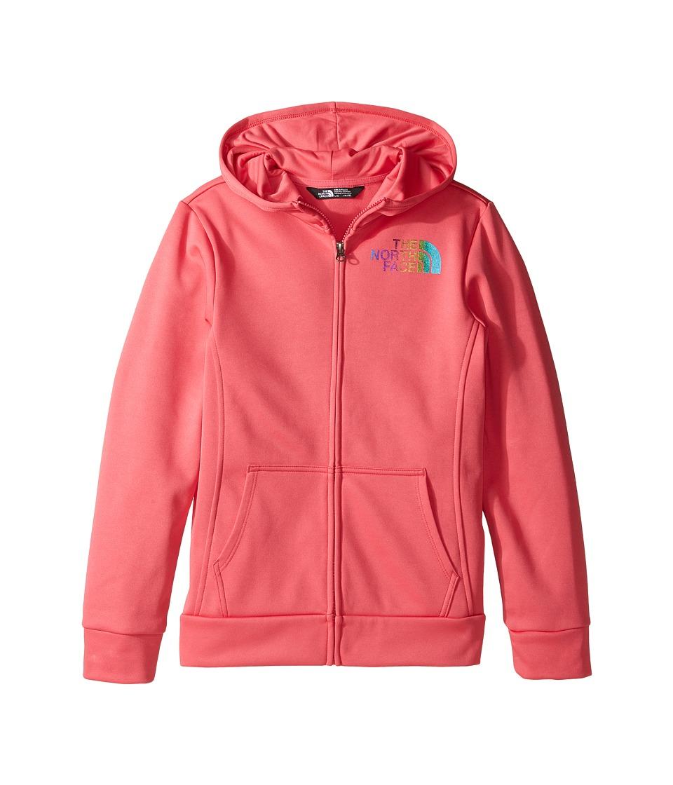 The North Face Kids - Surgent Full Zip Hoodie (Little Kids/Big Kids) (Honeysuckle Pink (Prior Season)) Girl's Sweatshirt
