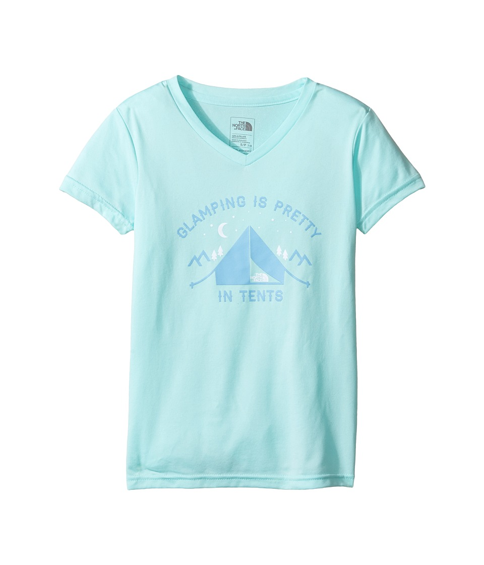The North Face Kids - Short Sleeve Reaxion Tee (Little Kids/Big Kids) (Breeze Blue (Prior Season)) Girl's Short Sleeve Pullover