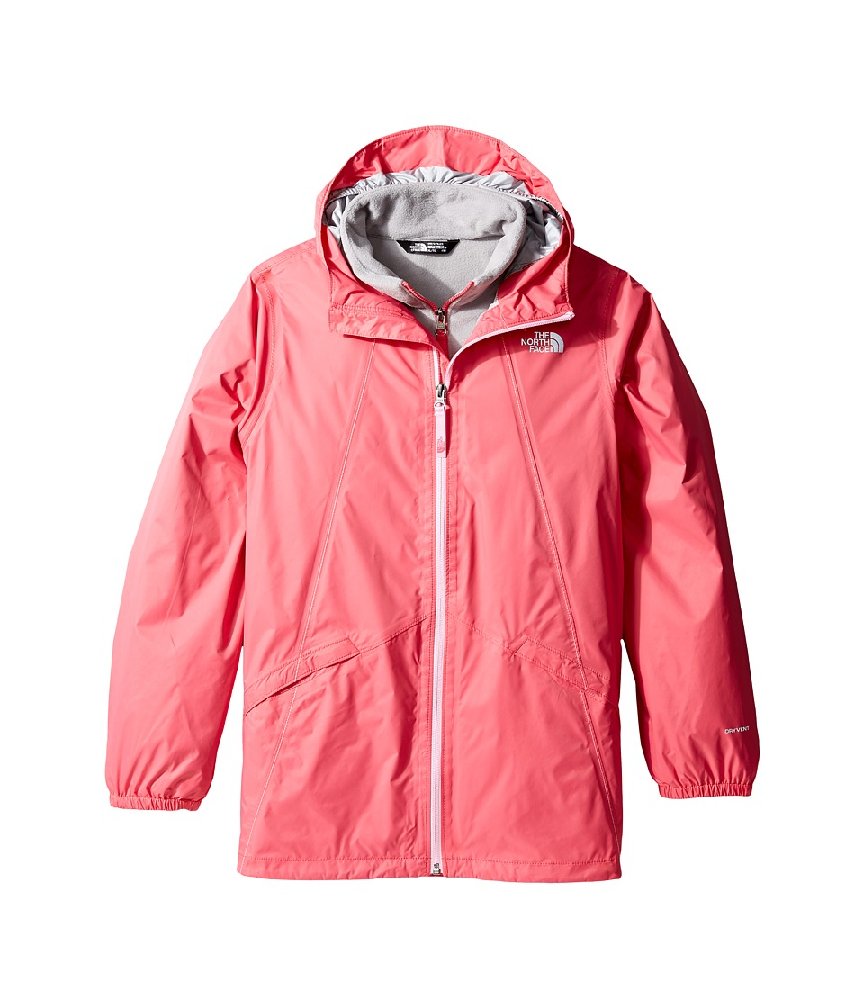 The North Face Kids - Stormy Rain Triclimate (Little Kids/Big Kids) (Honeysuckle Pink/High-Rise Grey/Metallic Silver (Prior Season)) Girl's Coat