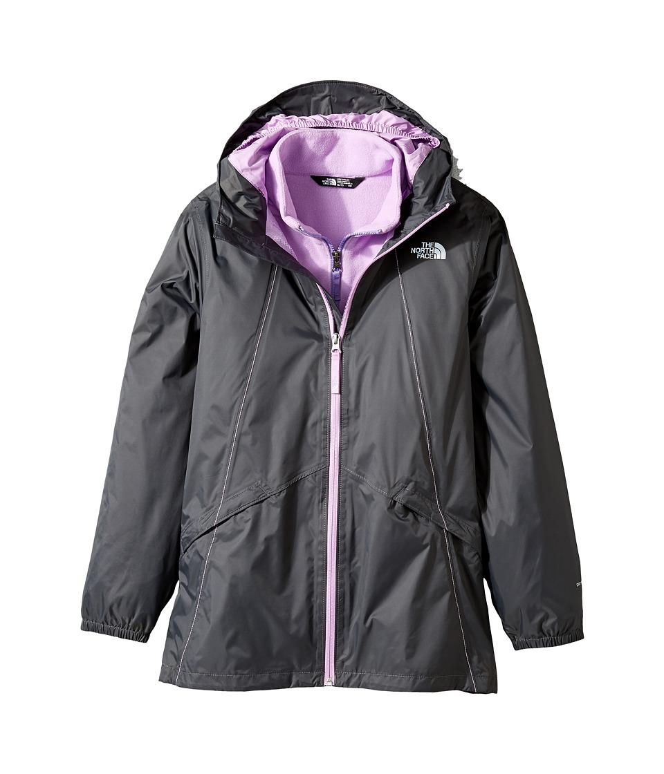 The North Face Kids - Stormy Rain Triclimate (Little Kids/Big Kids) (Graphite Grey/Violet Tulle (Prior Season)) Girl's Coat