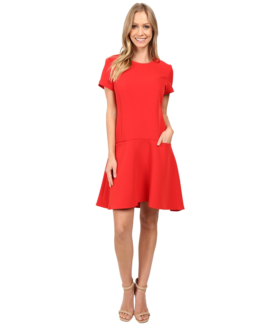 Donna Morgan - T-Shirt Dress with Flared Skirt (Tincture Red) Women's Dress