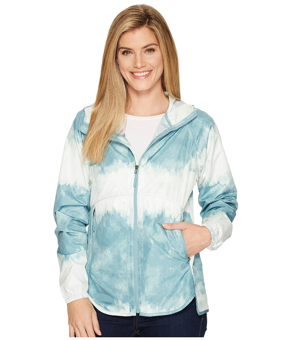 The North Face - Flyweight Hoodie (Trellis Green Borealis Tonal Print (Prior Season)) Women's Sweatshirt