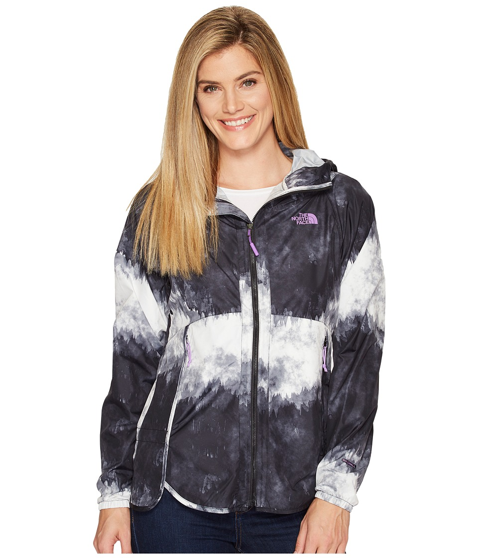 The North Face - Flyweight Hoodie (TNF Black Borealis Tonal Print (Prior Season)) Women's Sweatshirt