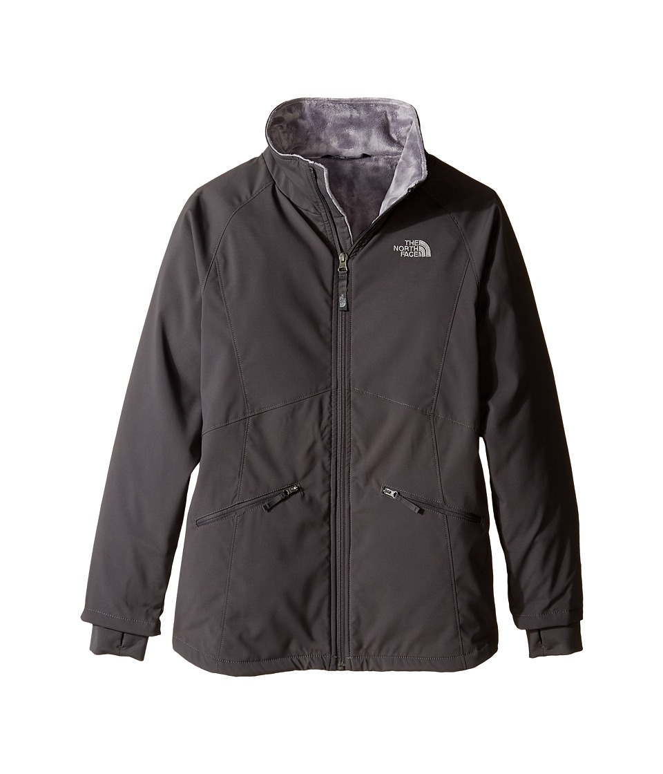 The North Face Kids - Girls' Mossbud Softshell Jacket (Little Kids/Big Kids) (Graphite Grey/Metallic Silver (Prior Season)) Girl's Jacket