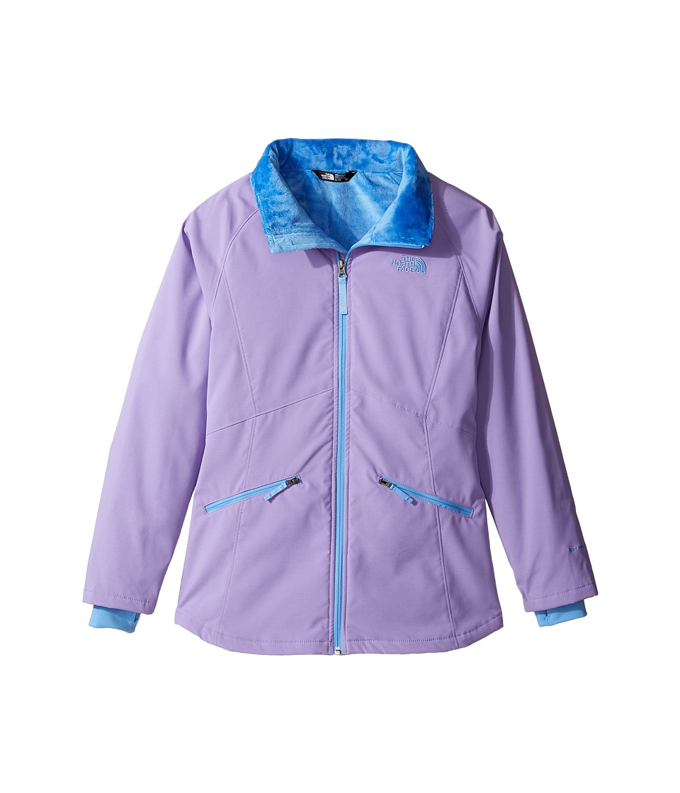 The North Face Kids - Girls' Mossbud Softshell Jacket (Little Kids/Big Kids) (Paisley Purple/Provence Blue (Prior Season)) Girl's Jacket