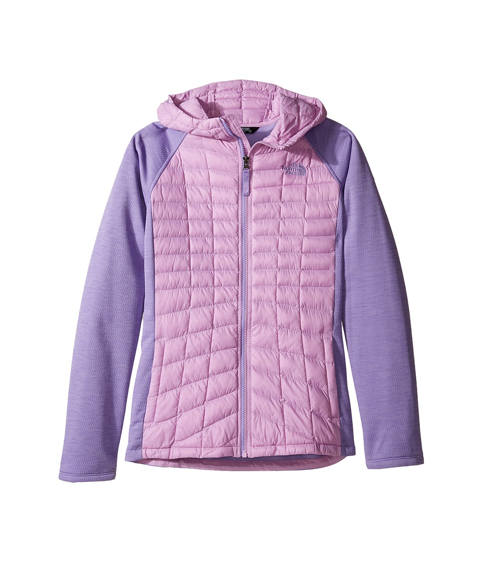 The North Face Kids - Thermoball Arcata Hoodie (Little Kids/Big Kids) (Violet Tulle/Paisley Purple Heather (Prior Season)) Girl's Sweatshirt