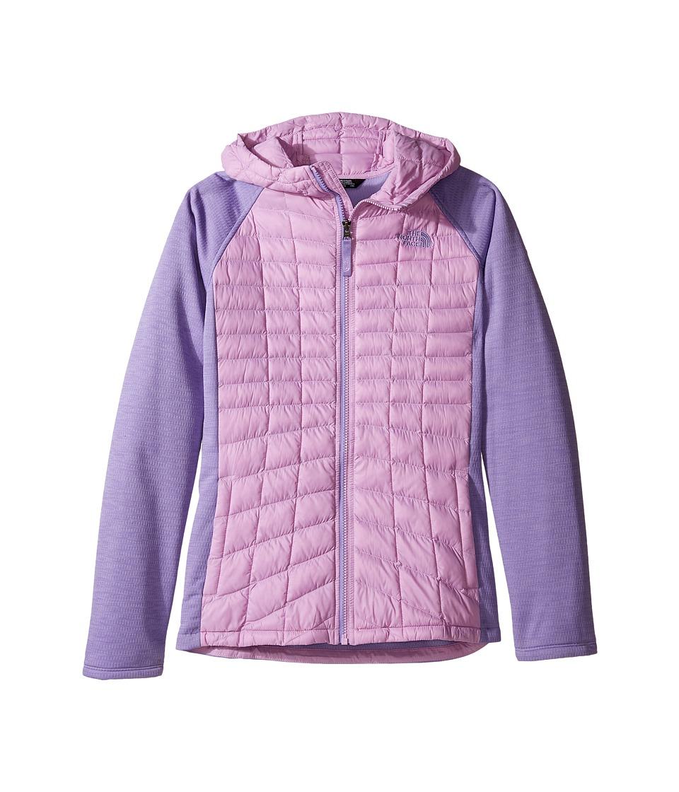The North Face Kids - Thermoball Arcata Hoodie (Little Kids/Big Kids) (Violet Tulle/Paisley Purple Heather (Prior Season)) Girl's Sweatshirt