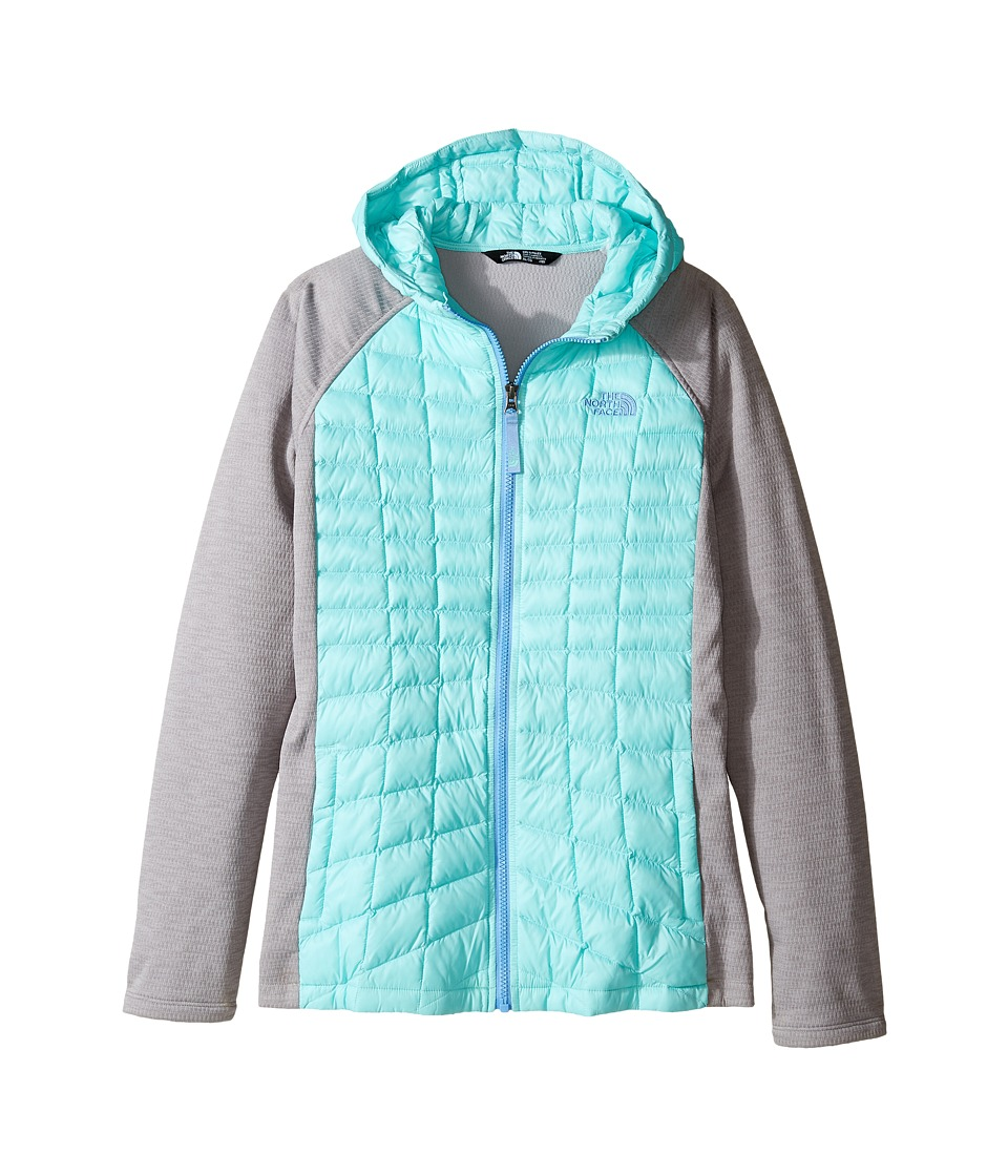 The North Face Kids - Thermoball Arcata Hoodie (Little Kids/Big Kids) (Breeze Blue/Metallic Silver Heather (Prior Season)) Girl's Sweatshirt