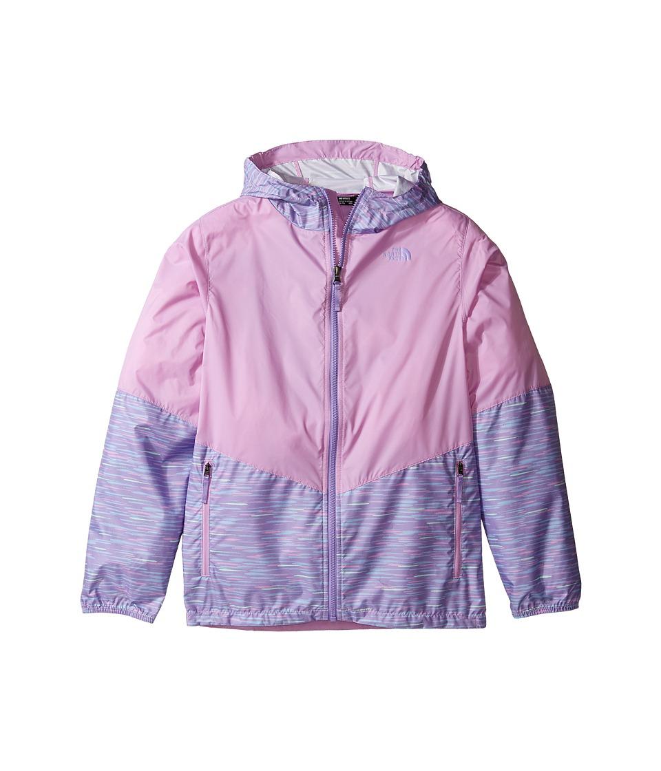 The North Face Kids Flurry Wind Hoodie (Little Kids/Big Kids) (Paisley Purple/Violet Tulle (Prior Season)) Girl