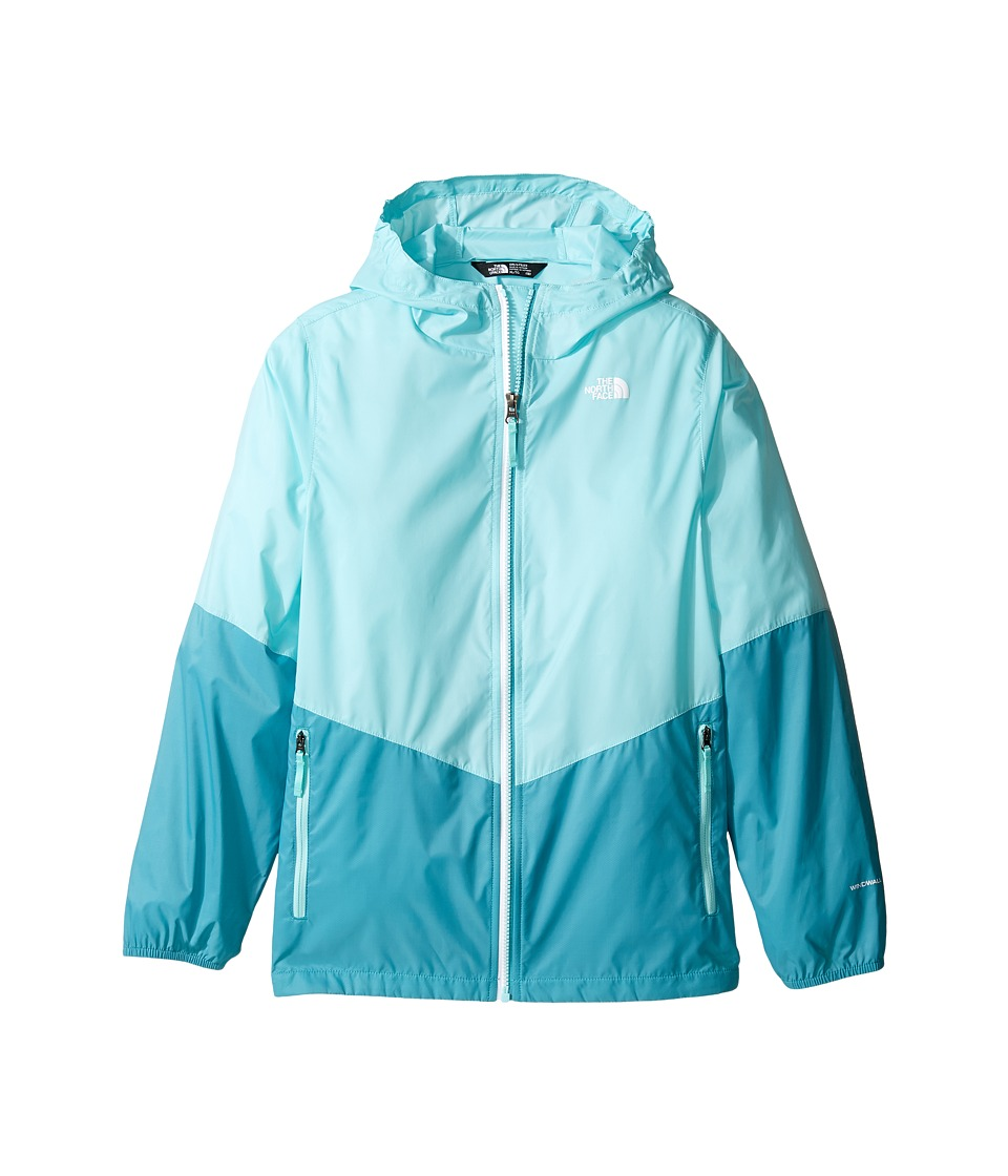 The North Face Kids - Flurry Wind Hoodie (Little Kids/Big Kids) (Breeze Blue/Valhalla Blue (Prior Season)) Girl's Coat
