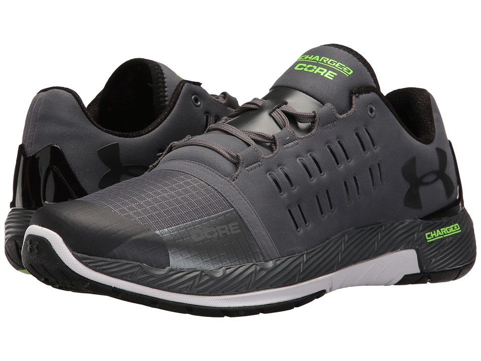 Under Armour - UA Charged Core (Rhino Gray/White/Black) Men's Cross Training Shoes