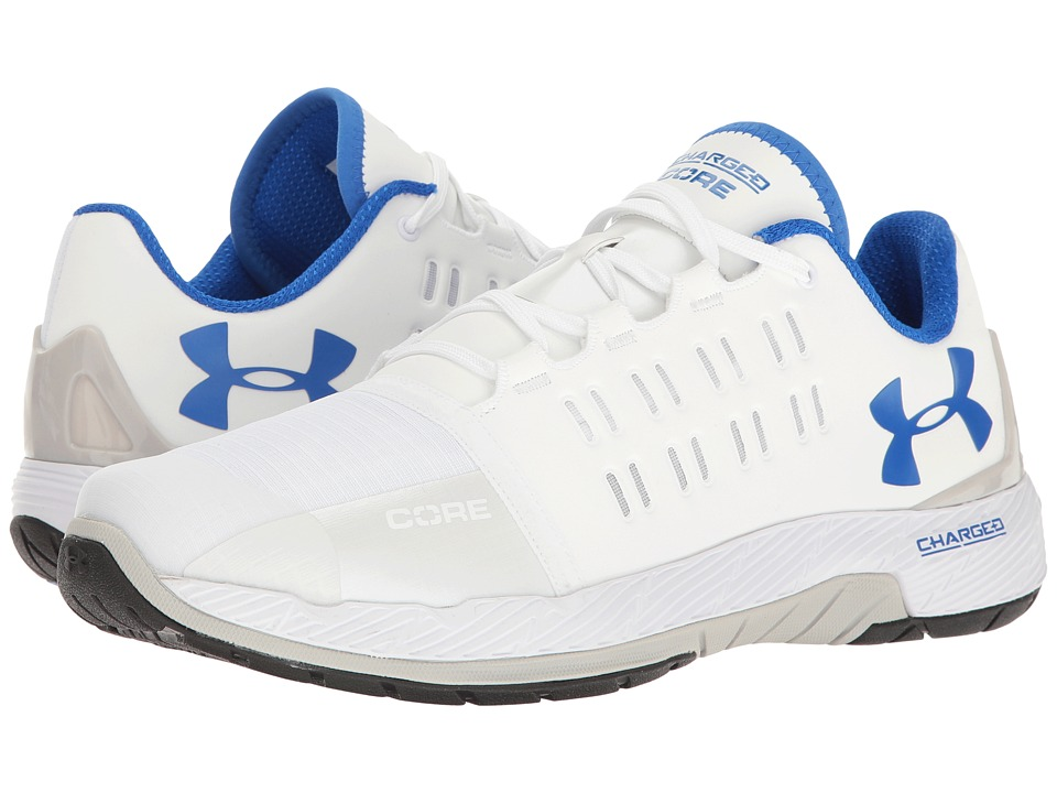 Under Armour - UA Charged Core (White/White/Ultra Blue) Men's Cross Training Shoes
