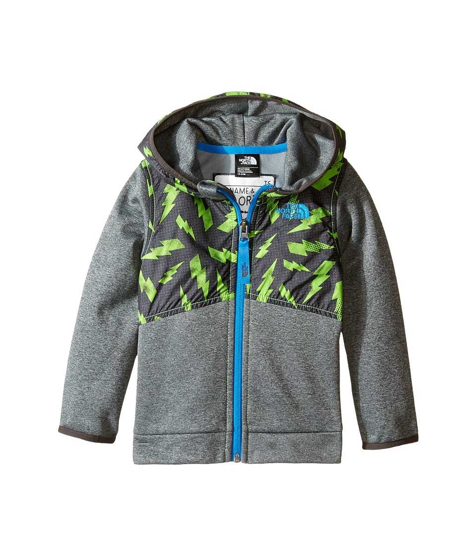 The North Face Kids - Kickin It Hoodie (Infant) (Power Green Bolt Print -Prior Season) Kid's Sweatshirt