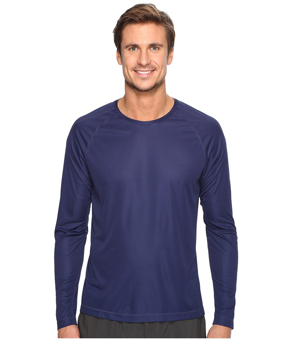 ASICS - Long Sleeve Crew (Indigo Blue) Men's Long Sleeve Pullover