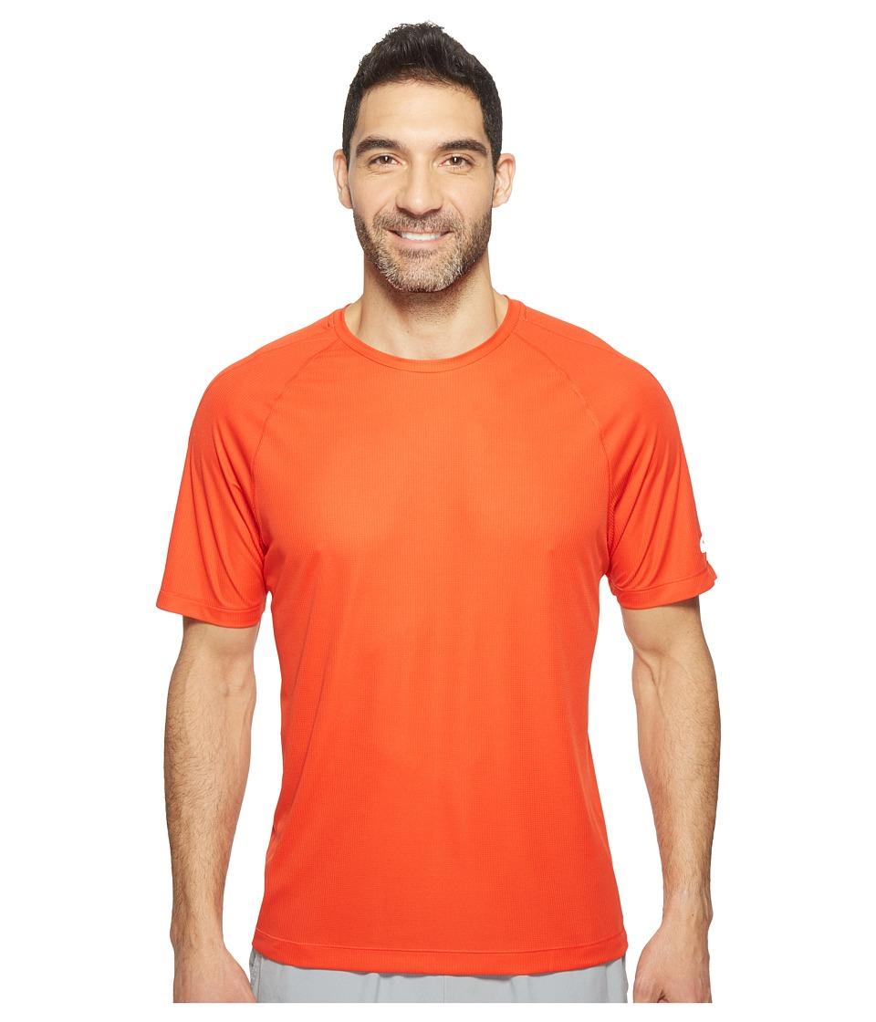 ASICS - Short Sleeve Tee (Fiery Red) Men's Workout