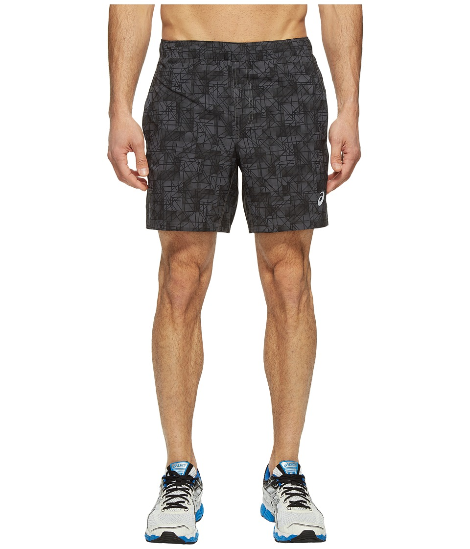 ASICS - 7 Woven Shorts (Dark Grey Structured Geo) Men's Shorts