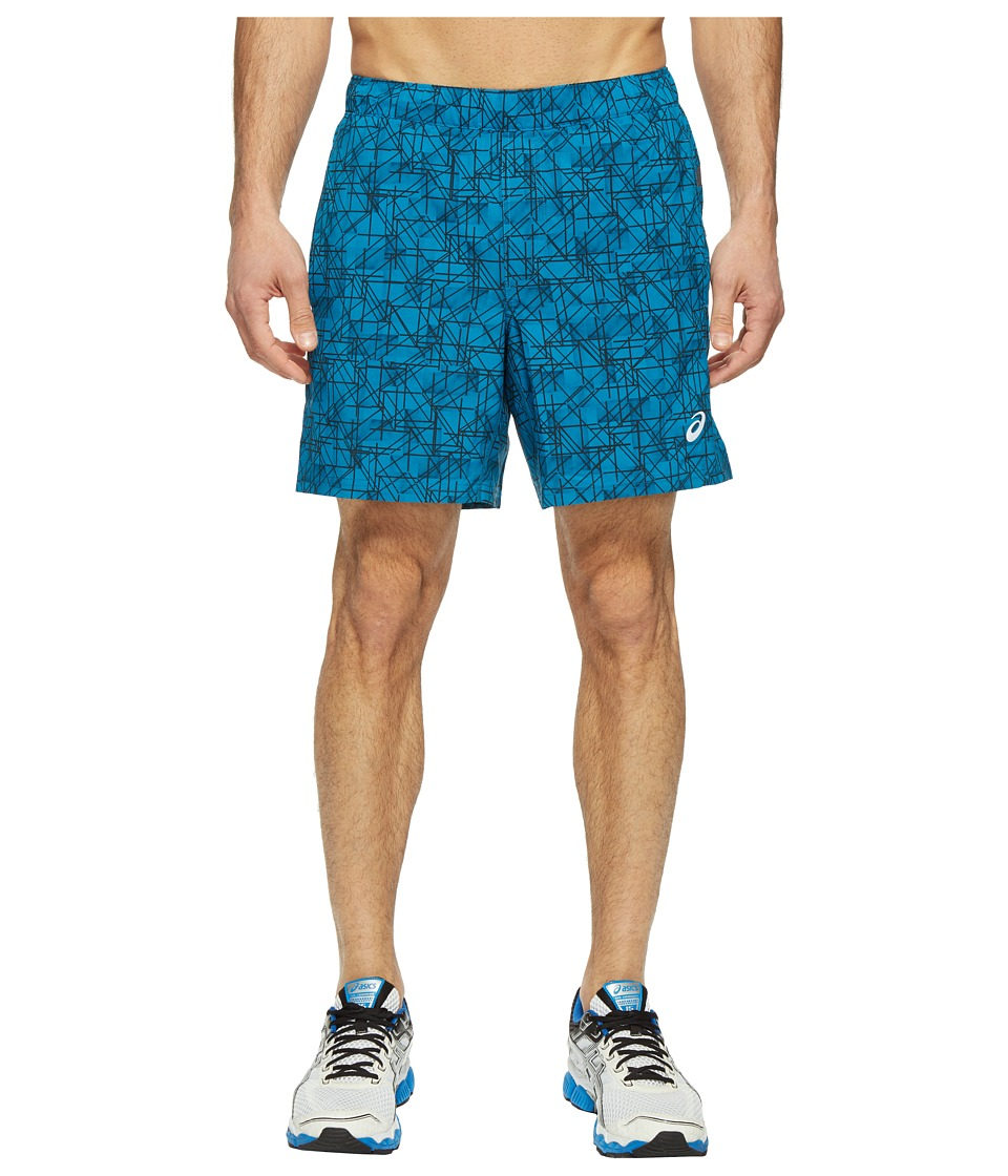 ASICS - 7 Woven Shorts (Thunder Blue Structured Geo) Men's Shorts