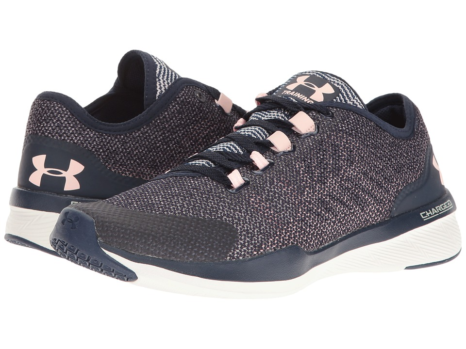 Under Armour - UA Charged Push TR Hypersplice (Midnight Navy/Ivory/Ballet Pink) Women's Cross Training Shoes