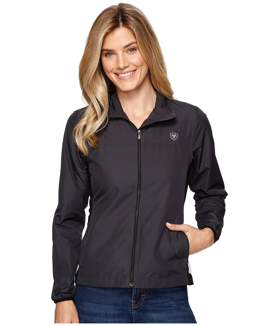Ariat - Ideal Windbreaker Jacket (Black) Women's Coat