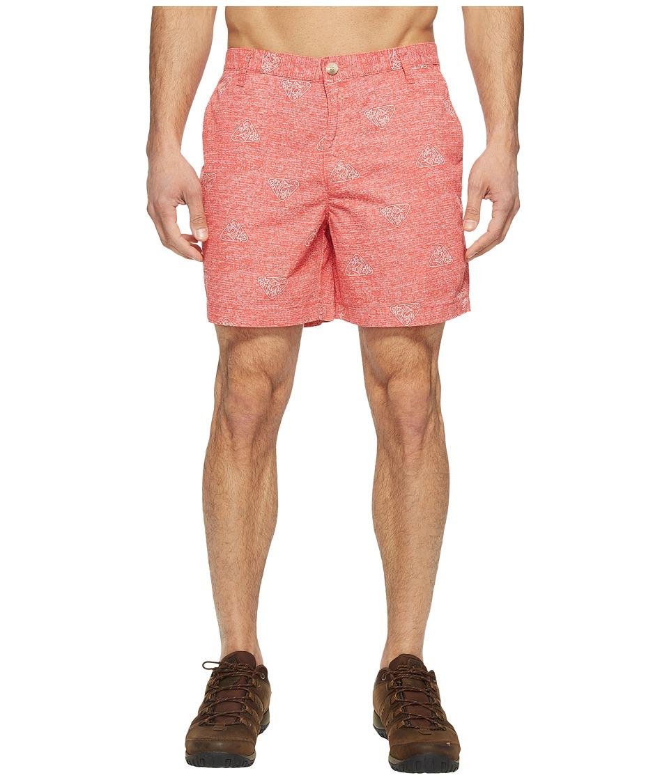 Columbia - Super Bonehead II Shorts (Sunset Red Triangle Palms) Men's Shorts