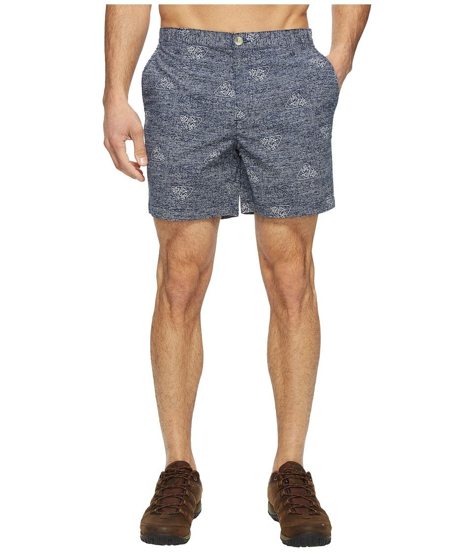 Columbia - Super Bonehead II Shorts (Collegiate Navy Triangle Palms) Men's Shorts