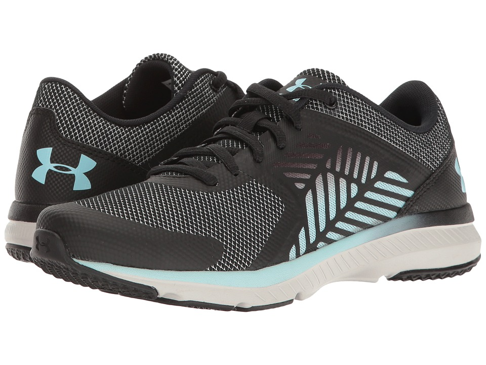 Under Armour - UA Micro G Press TR Micro/Macro (Black/Glacier Gray/Opal Blue) Women's Cross Training Shoes