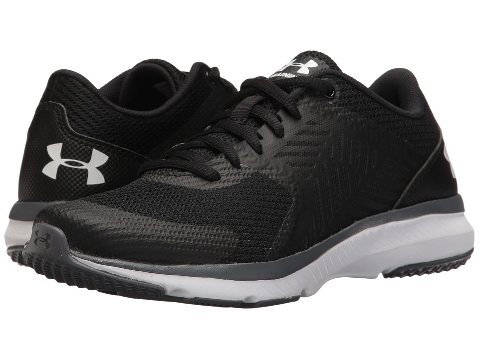Under Armour - UA Micro G Press TR (Black/Rhino Gray/White) Women's Cross Training Shoes